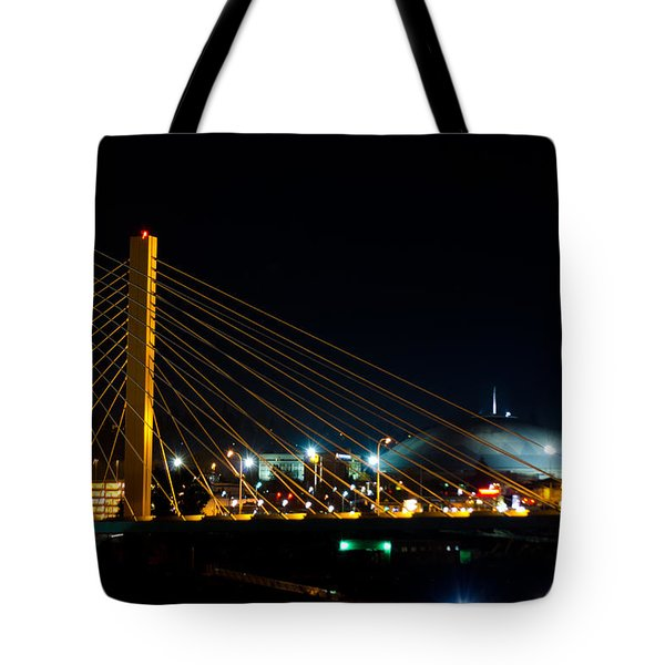 Tote Bag featuring the photograph Tacoma Dome And Bridge by Tikvah's Hope
