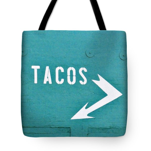 Tote Bag featuring the photograph Tacos by Art Block Collections