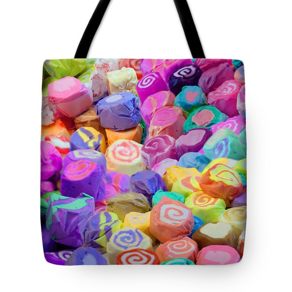 Taffy Candyland Tote Bag by Alixandra Mullins