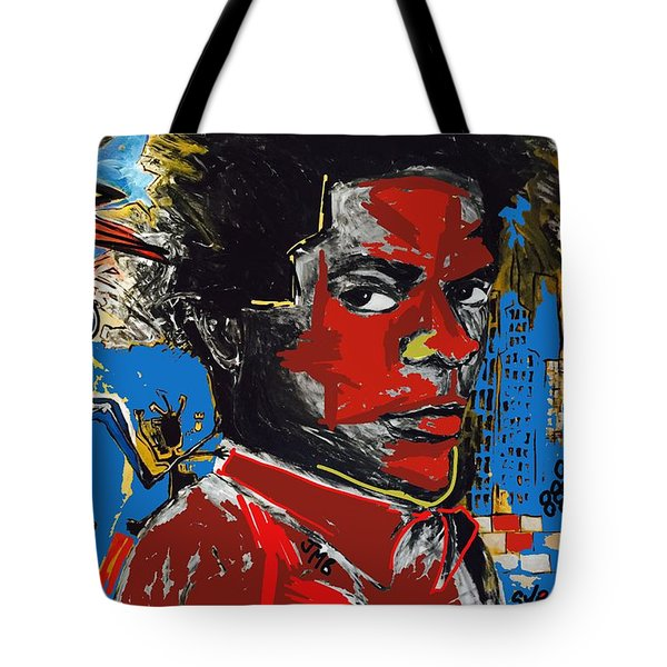 Tote Bag featuring the painting Tag by Helen Syron