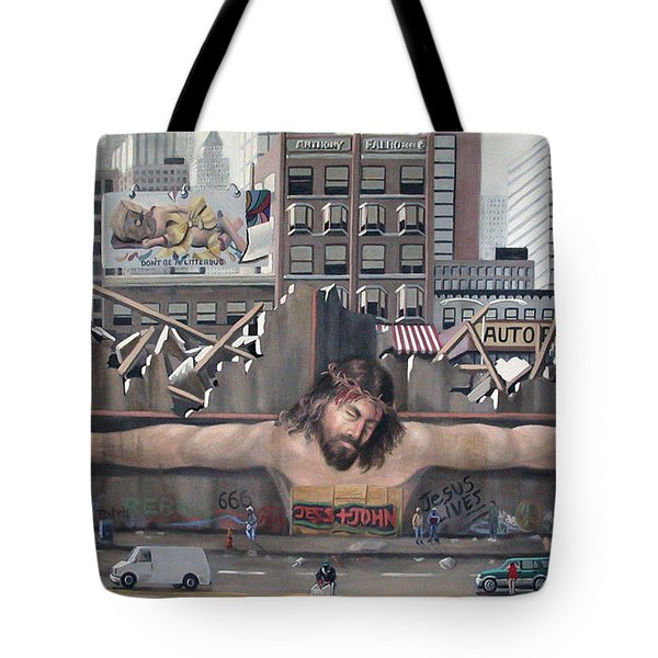 Tagging Tote Bag by Anthony Falbo