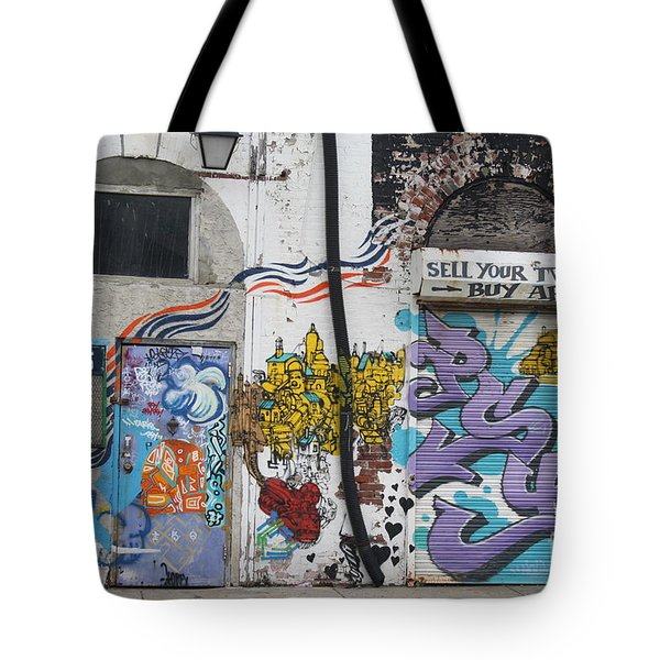 Tagging North Philly Tote Bag by Christopher Woods