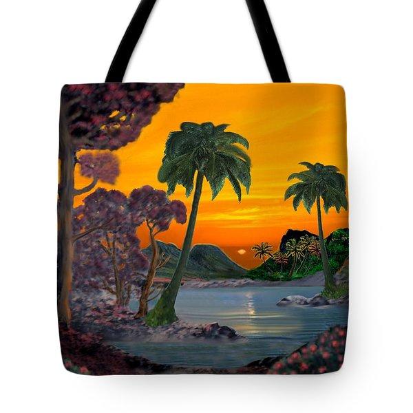 Tahitian Sunset Tote Bag by Glenn Holbrook