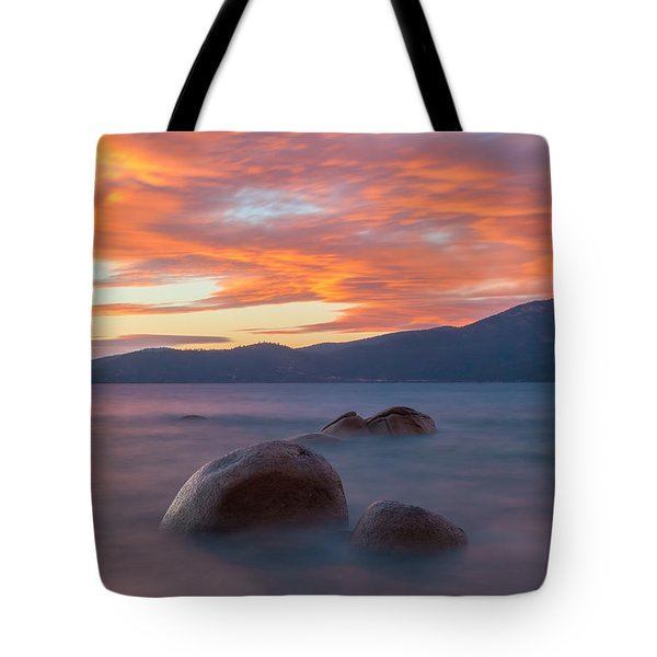 Tahoe Burning Tote Bag