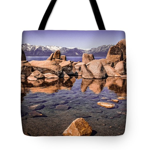 Tote Bag featuring the photograph Tahoe Reflections by Steven Bateson