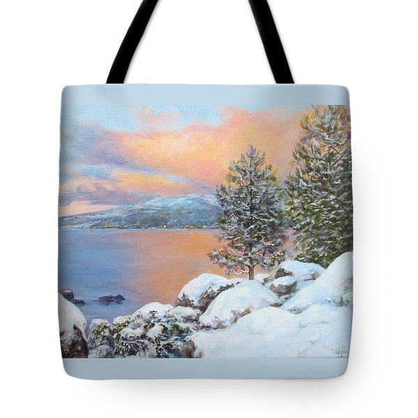 Tahoe Winter Colors Tote Bag