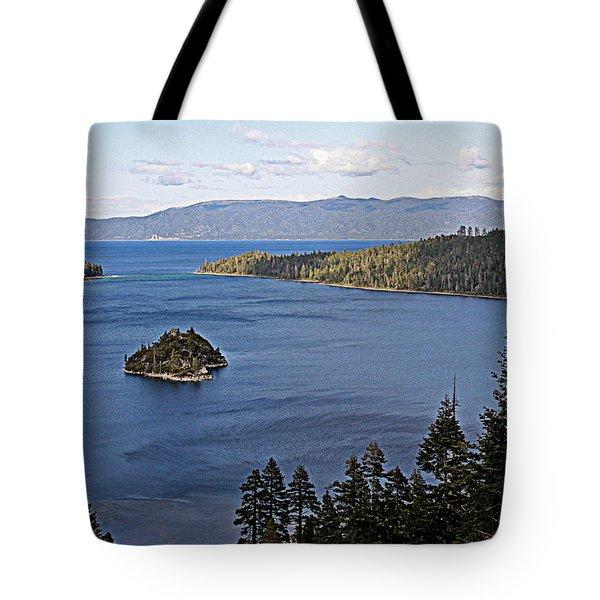 Lake Tahoe's Emerald Bay Tote Bag