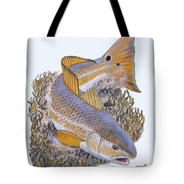 Tailing Redfish Tote Bag