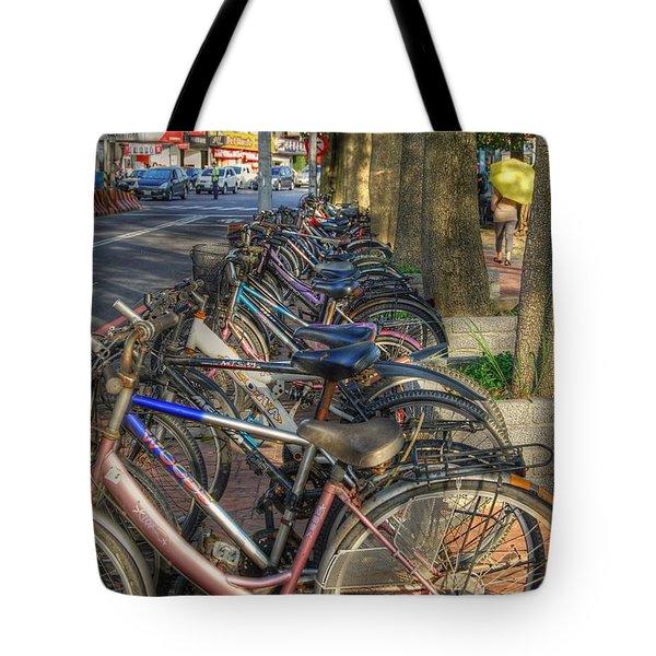 Taiwan Bikes Tote Bag