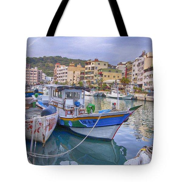 Taiwan Boats Tote Bag
