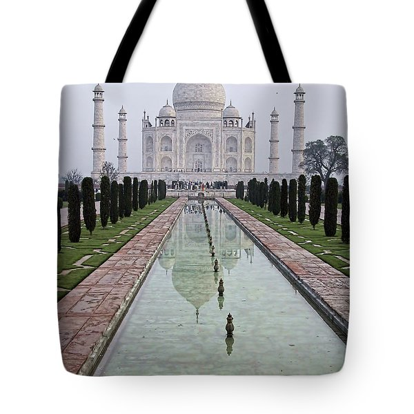 Tote Bag featuring the photograph Taj Mahal Early Morning by John Hansen