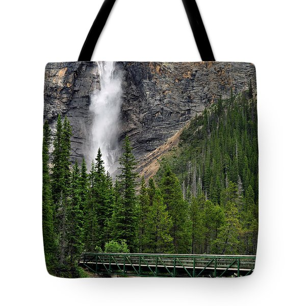 Takakkaw Falls Tote Bag by Lisa Phillips