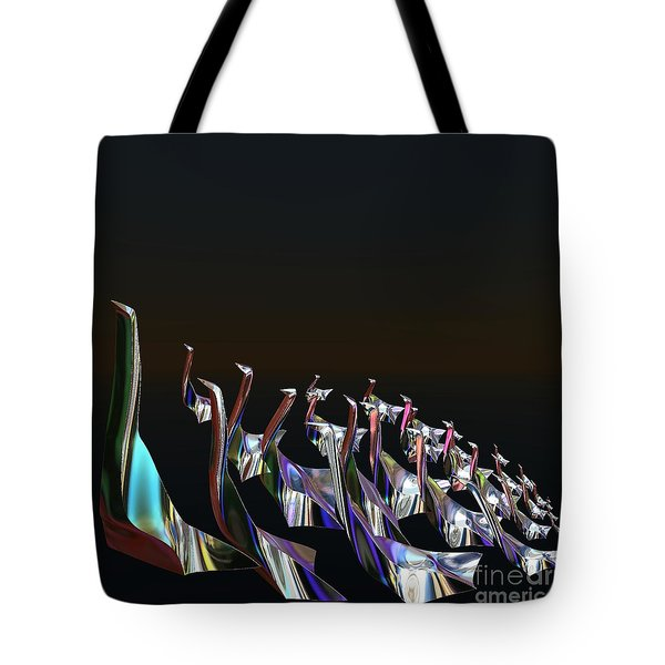 Tote Bag featuring the digital art Take A Gander by Greg Moores
