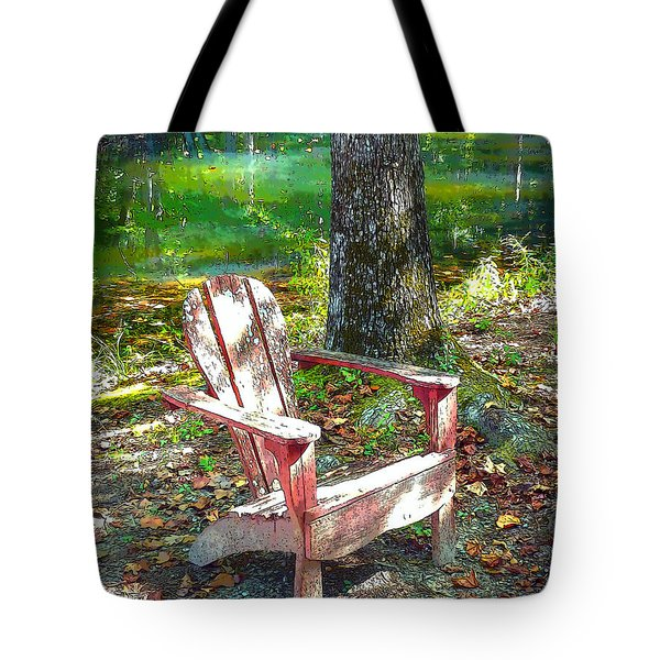 Take A Seat Tote Bag by Sally Simon