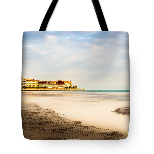 Take A Walk At The Beach Tote Bag