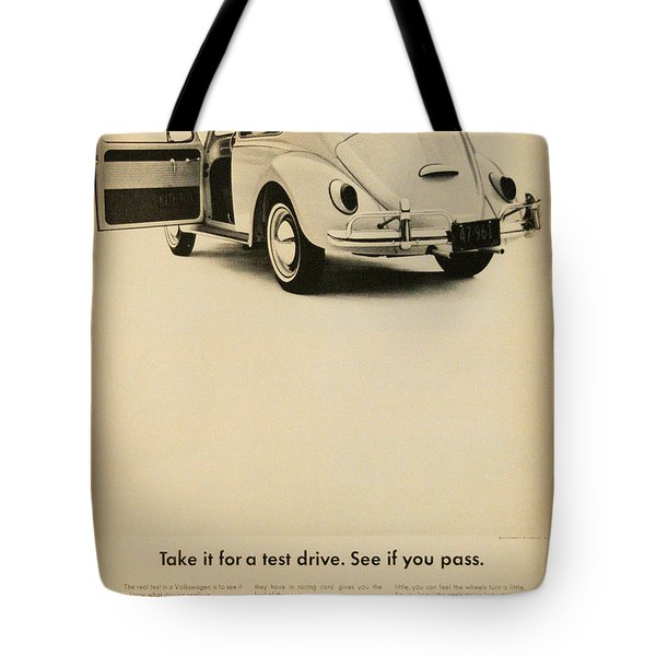 Take It For A Test Drive Tote Bag by Georgia Fowler