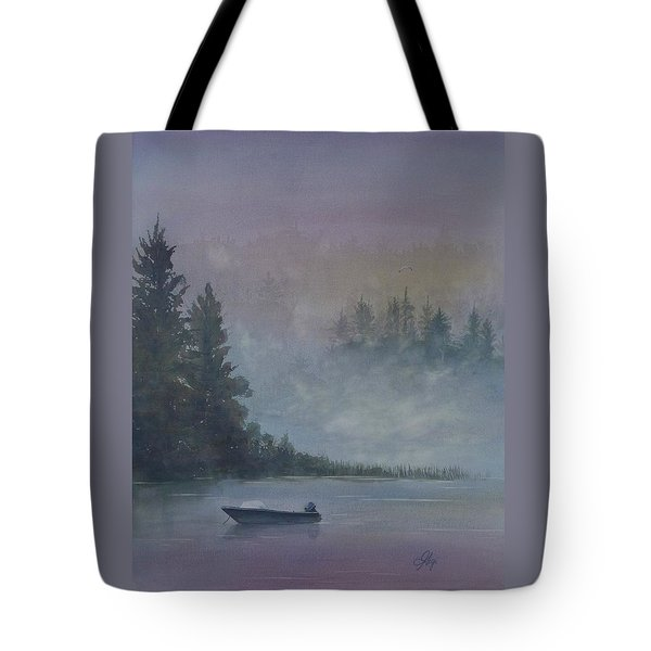 Tote Bag featuring the painting Take Me Fishing by Gigi Dequanne
