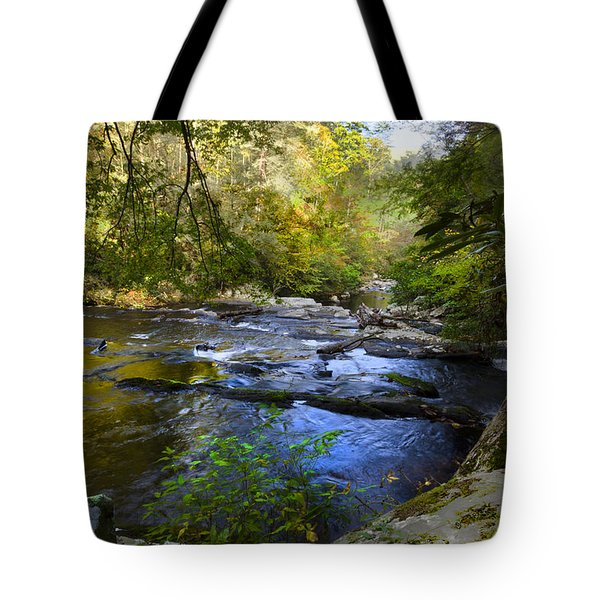 Take Me To The River Tote Bag by Debra and Dave Vanderlaan