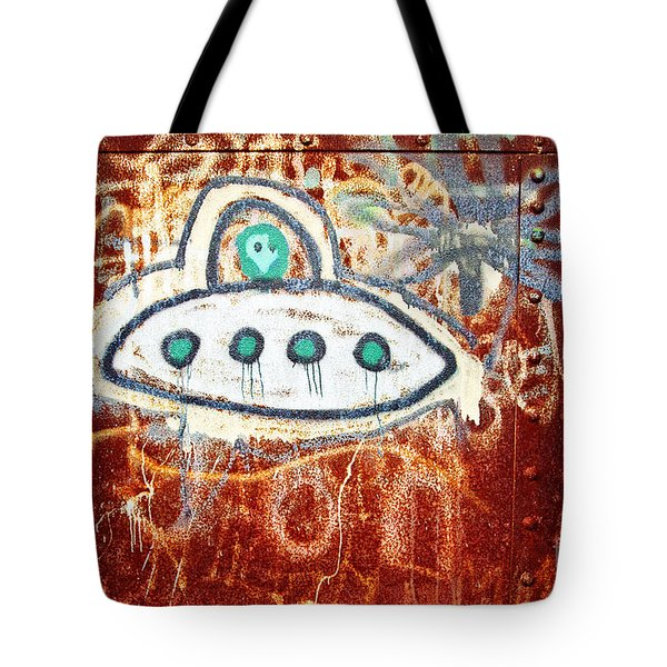 Take Me To Your Leader Tote Bag by Scott Pellegrin