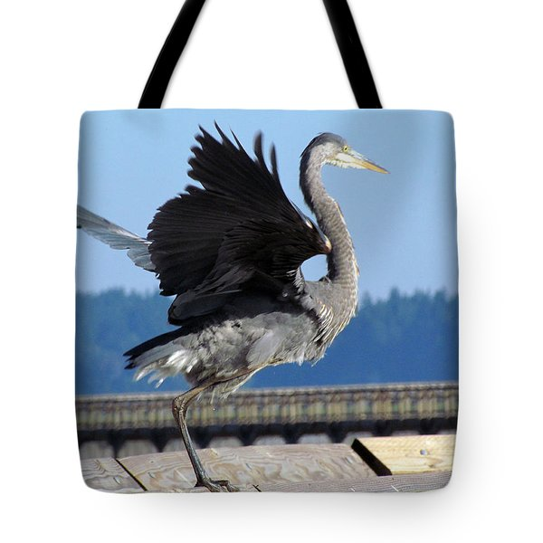 Tote Bag featuring the photograph Take Off by I'ina Van Lawick