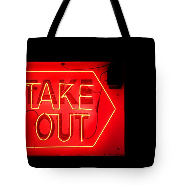 Tote Bag featuring the photograph Take Out by Greg Simmons