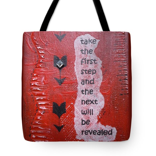 Take The First Step Tote Bag by Gillian Pearce