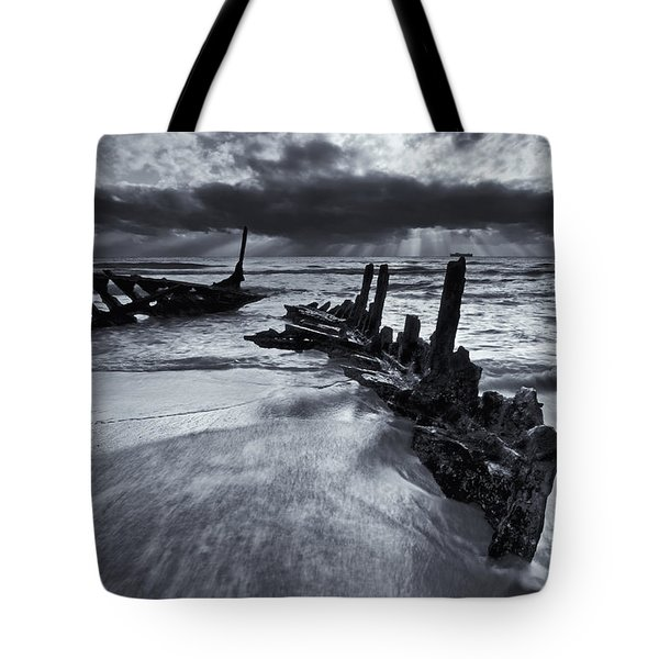 Taken By The Sea Tote Bag by Mike  Dawson