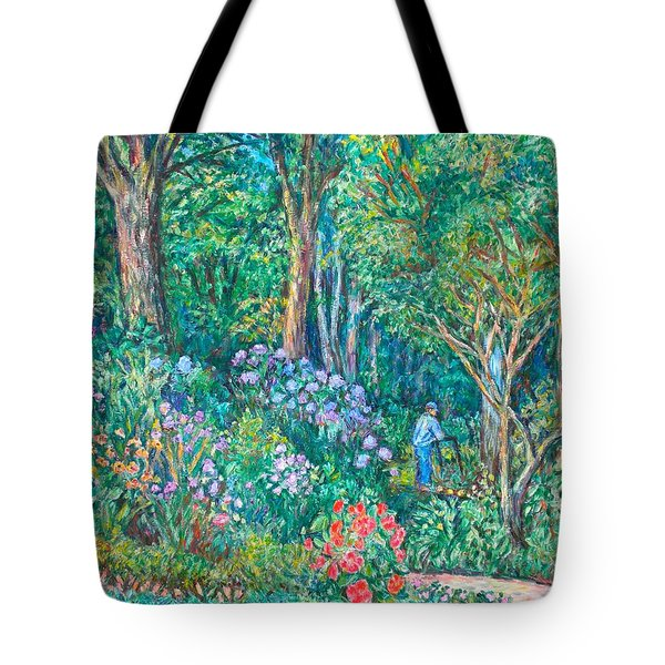 Tote Bag featuring the painting Taking A Break by Kendall Kessler