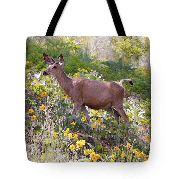 Tote Bag featuring the photograph Taking A Stroll In The Country by Athena Mckinzie