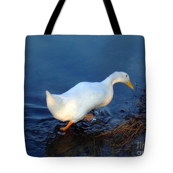 Tote Bag featuring the photograph Taking A Walk by Bob Sample