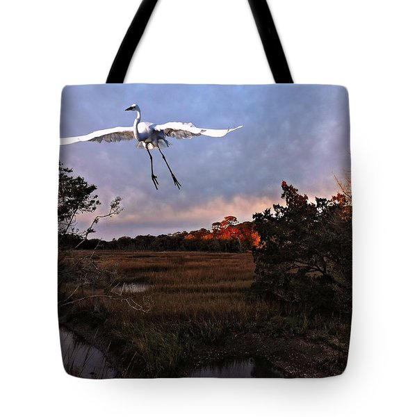 Tote Bag featuring the photograph Taking Flight by Laura Ragland