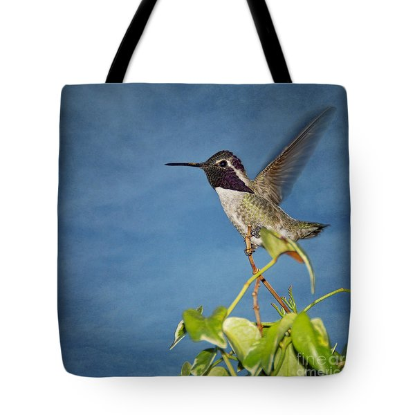 Taking Flight Tote Bag by Peggy Hughes