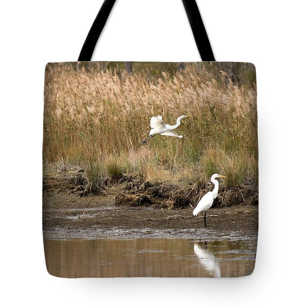 Tote Bag featuring the photograph Taking Flight by Rebecca Davis