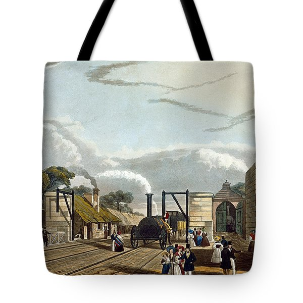 Taking In Water At Parkside, Plate 13 Tote Bag