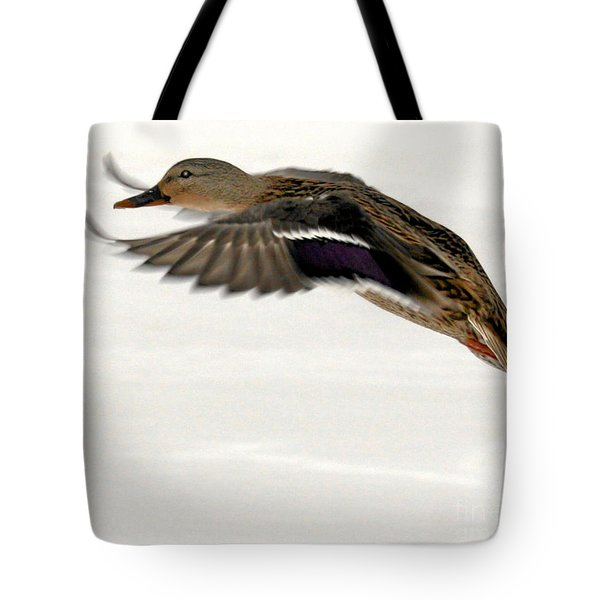 Taking Off Tote Bag by John Telfer