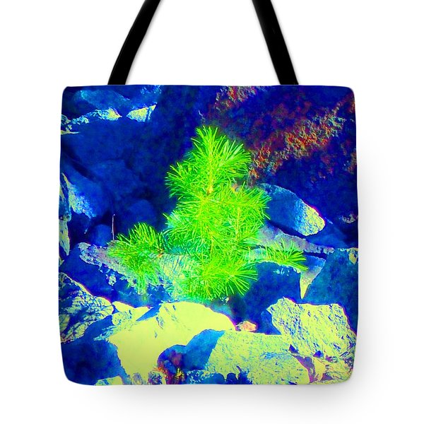 Tote Bag featuring the photograph Taking Root by Ann Johndro-Collins