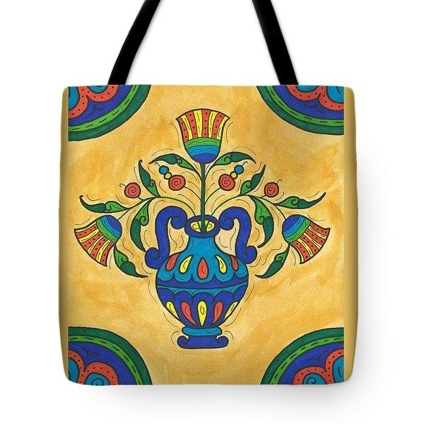Talavera Flora 2 Tote Bag by Susie WEBER
