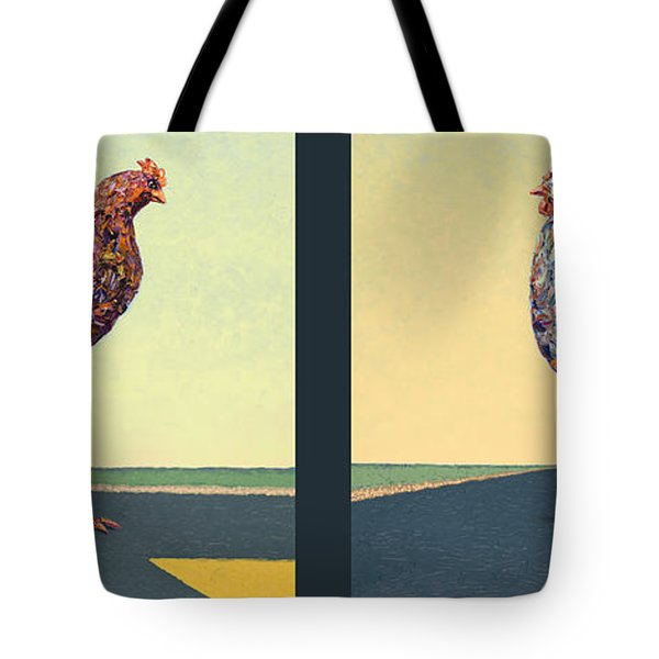 Tale Of Two Chickens Tote Bag