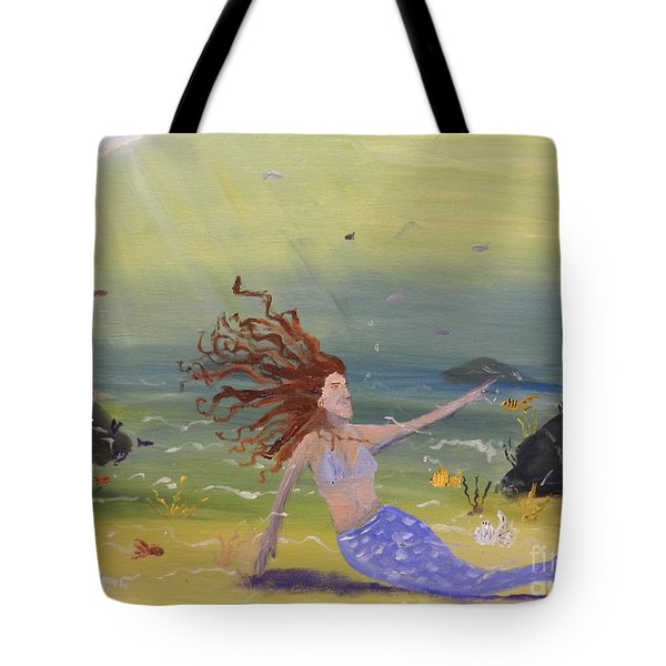 Talking To The Fishes Tote Bag