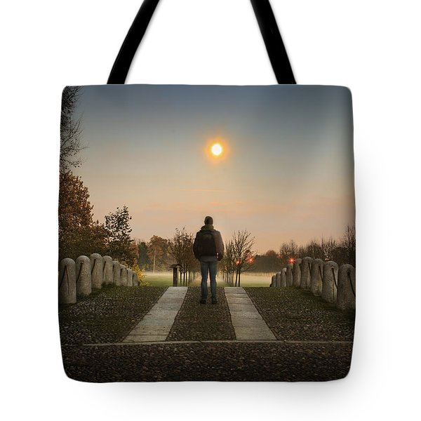 Talking To The Moon Tote Bag
