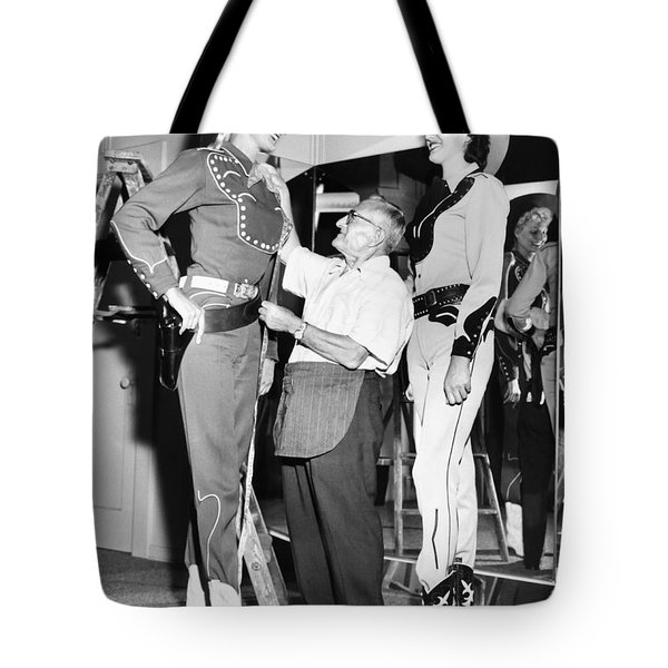 Tall Cowgirls Get Fitted Tote Bag