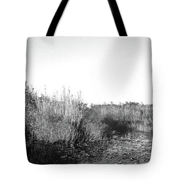 Tall Grass At The Lakeside, Anhinga Tote Bag