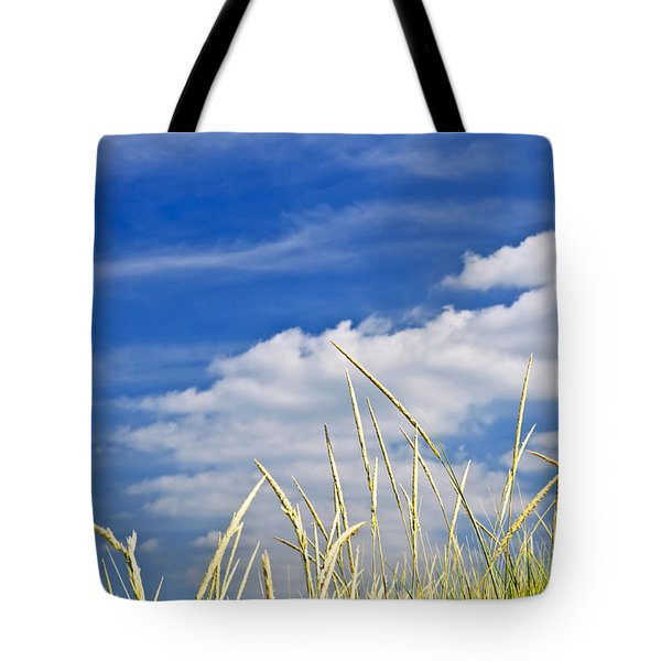 Tall Grass On Sand Dunes Tote Bag