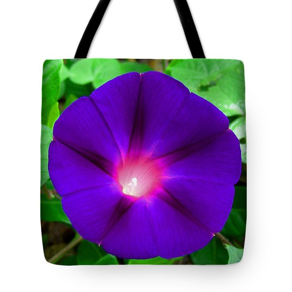 Tote Bag featuring the photograph Tall Morning Glory by William Tanneberger