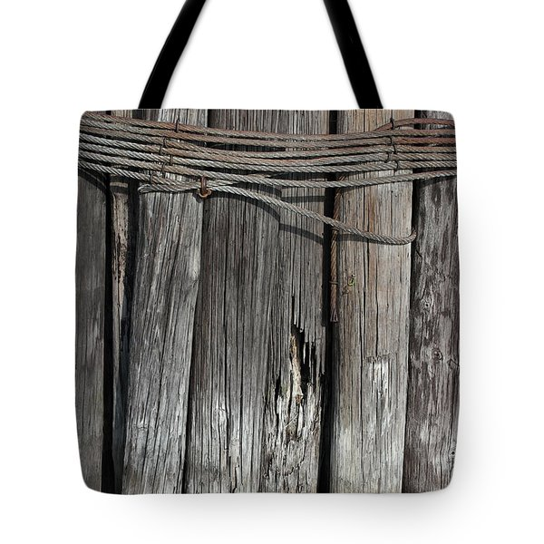 Tall Pilings 2 Tote Bag