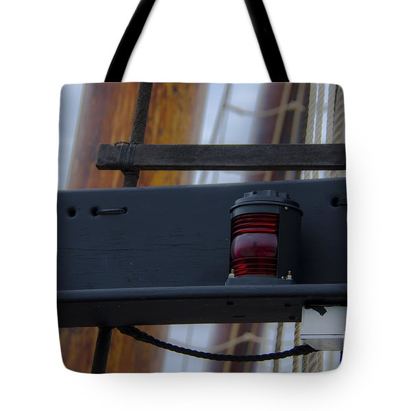Tote Bag featuring the photograph Tall Ship Bow Light by Dale Powell