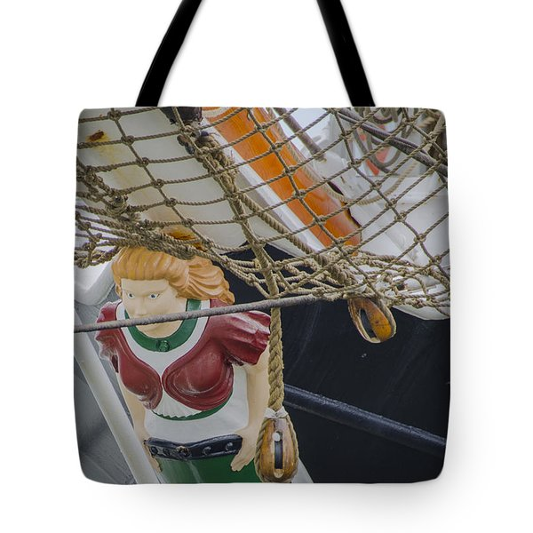 Tote Bag featuring the photograph Tall Ship Gunilla Masthead by Dale Powell