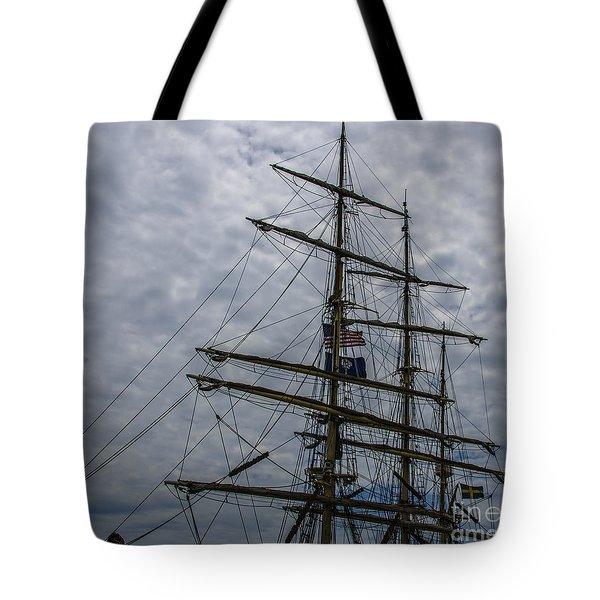 Tote Bag featuring the photograph Tall Ship Mast by Dale Powell