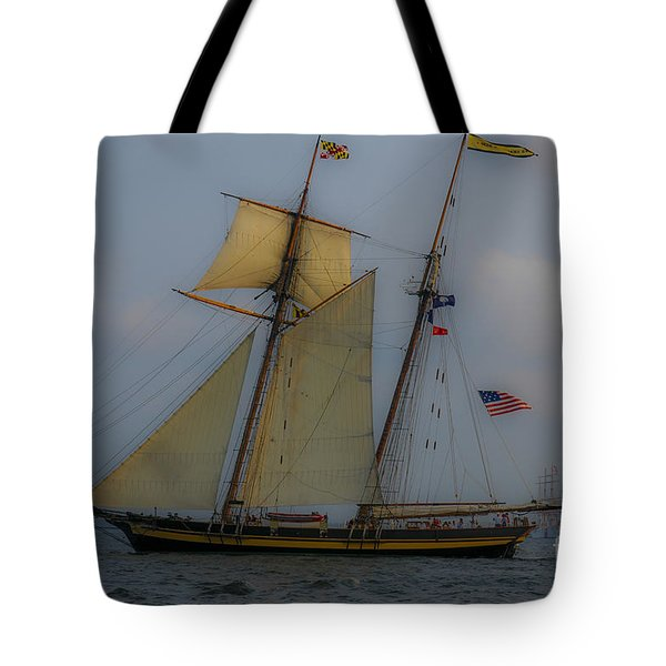 Tall Ships In The Lowcountry Tote Bag by Dale Powell