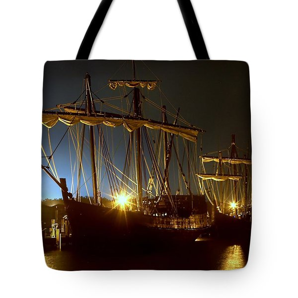 Tall Ships Tote Bag by Debra Forand
